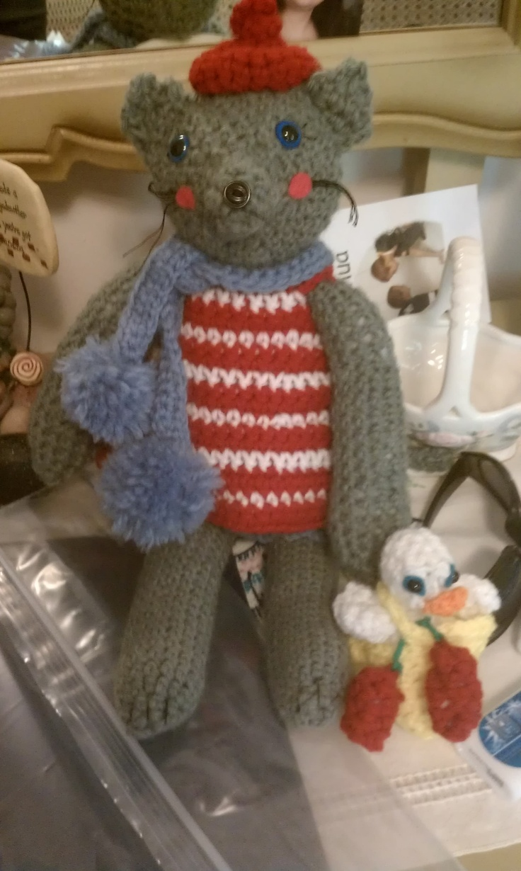 Coco the cat just back from her trip to France! She's from Crochet Today magazine.