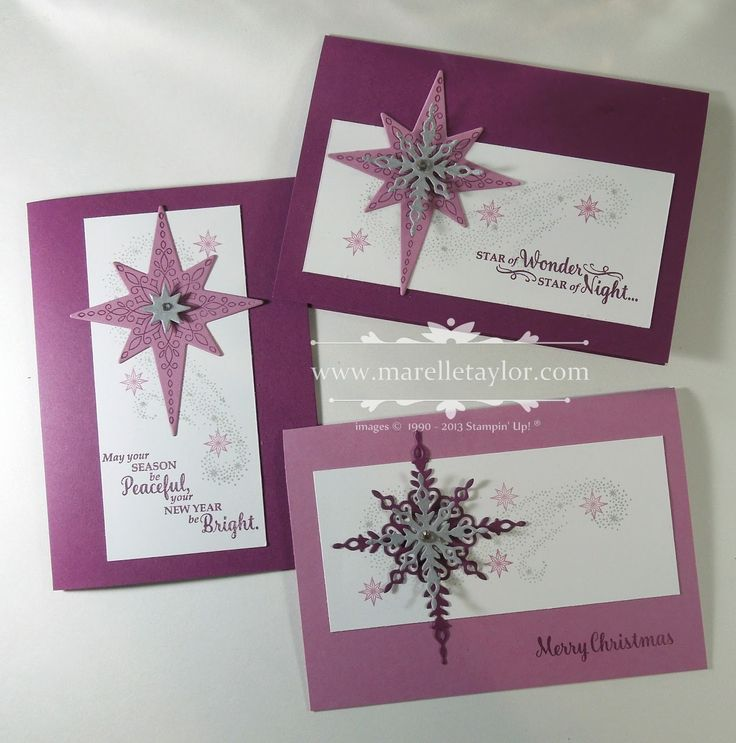 Here's the second set of cards we are making in class this week. I've gone for a very non-traditional Christmas colour scheme for these o...