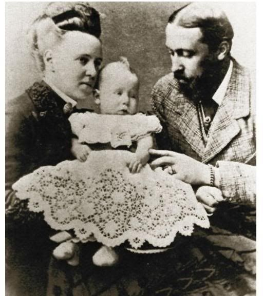 The Duke and Duchess of Edinburgh with their son Prince Alfred.