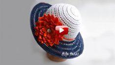Bayan Şapka Yapımı Videolu Anlatım – Örgü Hasır Şapka Yapımı
