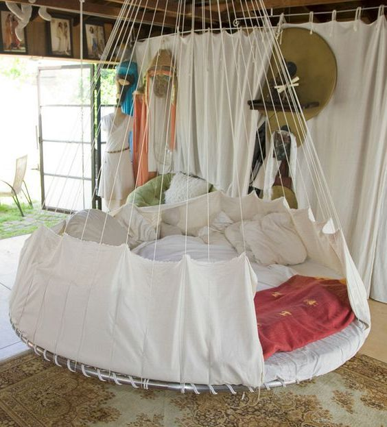 25 best ideas about trampoline bed on pinterest cheap for Indoor hanging bed