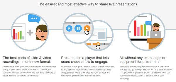 Presentio.us, para hacer presentaciones online con audio sincronizado o manejo independiente