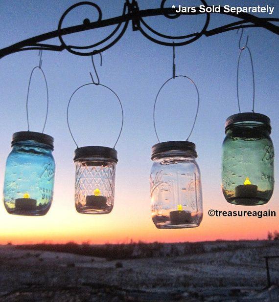 Hanging Candle Lanterns Flower Tower Lantern Wedding: 289 Best Images About Mason Jars On Pinterest