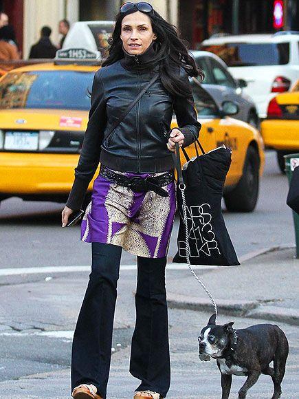 [Photo] X-Men Actress Famke Janssen Walks With Her Boston Terrier