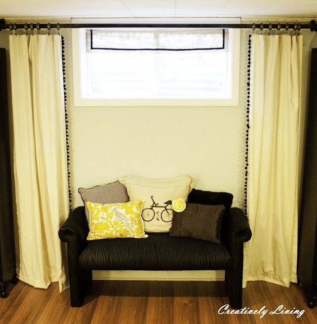 17 best ideas about basement window curtains on pinterest small window treatments basement - Basement curtain ideas ...