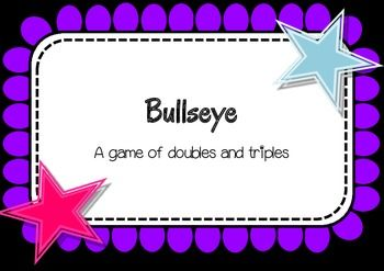 Bullseye - a math game: Cores Math, Math Games, Direction Games, Math Ideas, Games Boards, Dice Games, Math Teaching, Math Activities, Addition Games