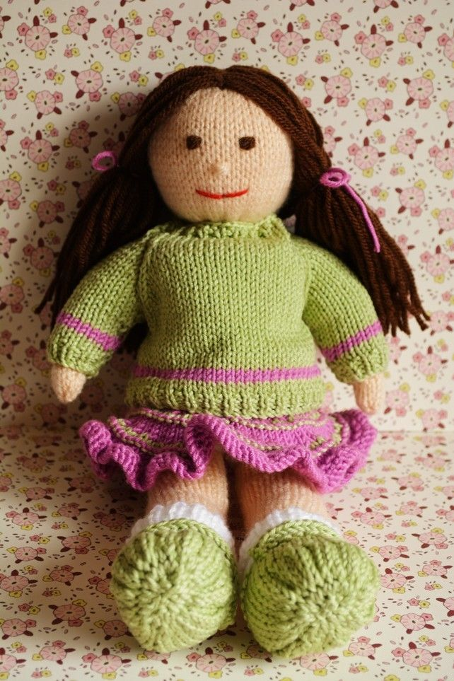 Jemima January Knitted Doll - Toy Knitting Pattern £2.50 http://folksy.com/items/6862694-Jemima-January-Knitted-Doll-Toy-Knitting-Pattern