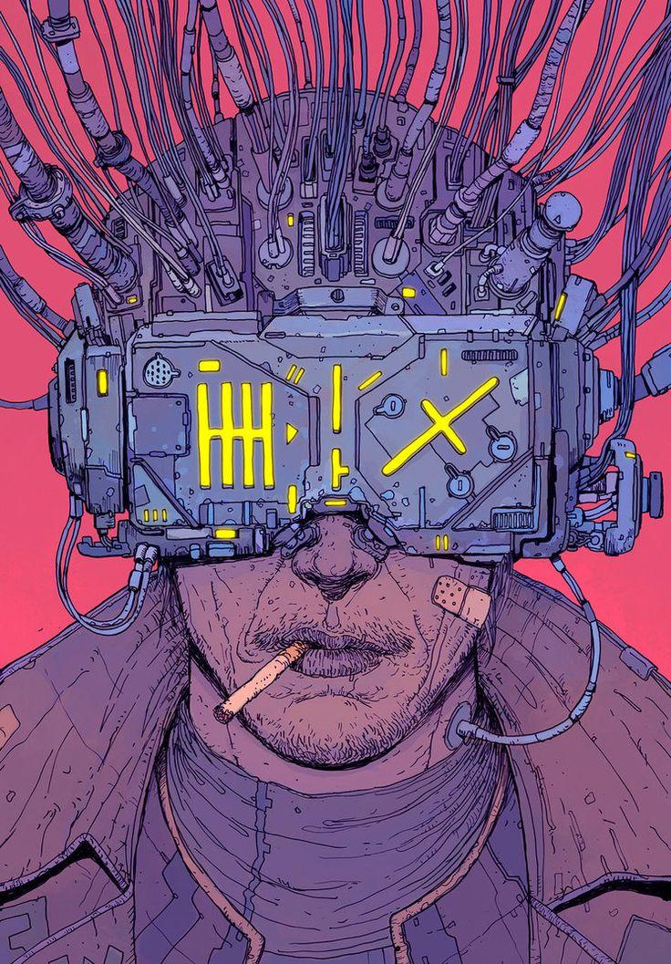 "rhubarbes: "" Neuromancer (Brazilian edition cover) by f1x-2 """