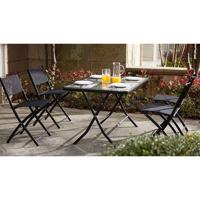 Les 25 meilleures id es concernant tables pliantes sur pinterest table plia - Table pliante avec 4 chaises integrees ...