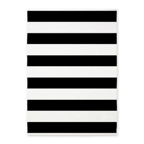 Black And White Bold Stripes 5u0027x7u0027Area Rug