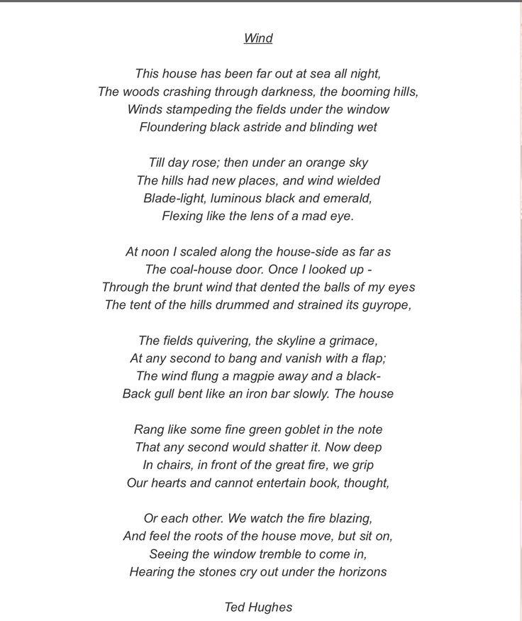 wind poem ted hughes