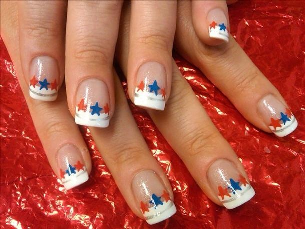 diy 4th of july nails