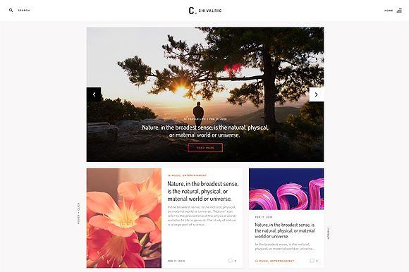 Chivalric Responsive Blog Template Blog Template Modern Blog Templates