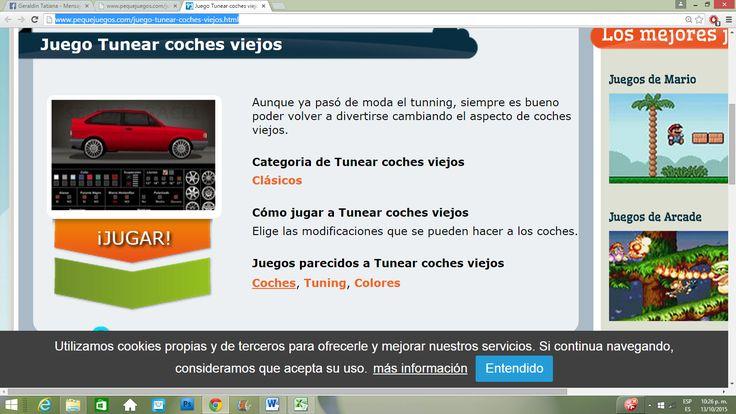 http://www.pequejuegos.com/juego-tunear-coches-viejos.html.                 ¿TE ATREVES?  Y recuerda, aveces menos es mas.
