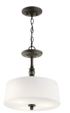 Hanging Or Semi Flush Light Bronze