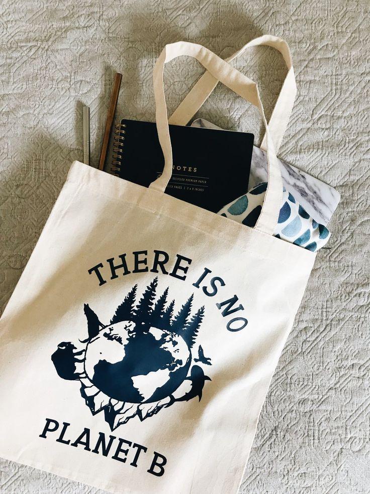 Keine wiederverwendbare Einkaufstasche des Planeten-B