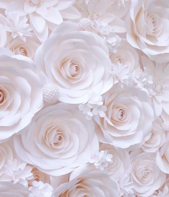 Paper Flower Wall Wedding Flower Wall Paper Flower Etsy Paper Flower Backdrop Wedding Large Paper Flowers Paper Flower Wall Wedding