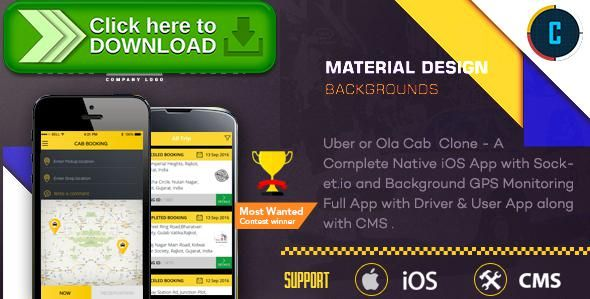 [ThemeForest]Free nulled download Taxi Booking App - A Complete Clone of UBER with User,Driver & Bacend CMS Coded with Native iOS from http://zippyfile.download/f.php?id=55327 Tags: ecommerce, booking, cab booking, car, car booking, city taxi, ios, ola, online taxi, rent a car, taxi, taxi booking, taxi service, uber