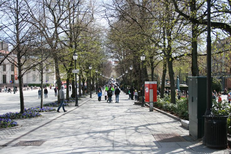 The National Theater area is in the center of Oslo and has lots of activities. You get a great view of the palace and of the main shopping street of Oslo.