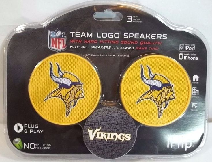 Minnesota Vikings iHip NFL Team Logo Speakers for iPod and iPhone MP3 CD #iHip