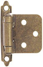 Hardware House 64-4518 Contractor Pack Flush Cabinet Hinge, Antique Brass, 10-Pack