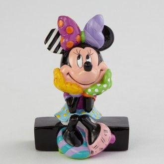 Minnie Mouse Sitting. Mini Figurine. Disney by Romero Britto.