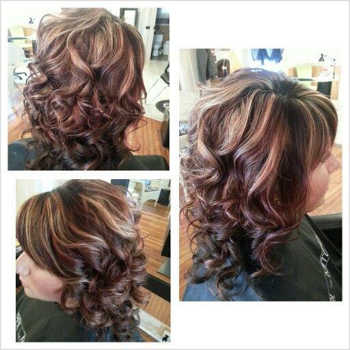 Curly Hair Highlights Amp Lowlights Hair Pinterest