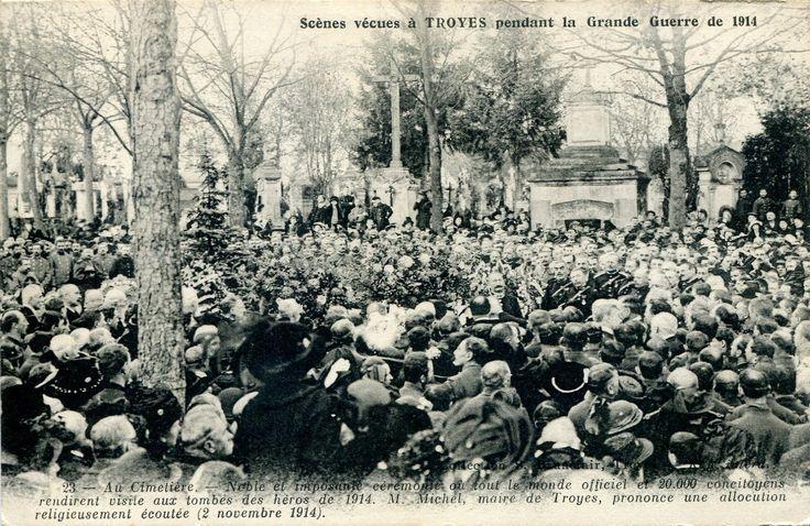 Carte n°23 : au cimetière, le discours du maire