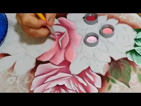 Como pintar rosas - YouTube