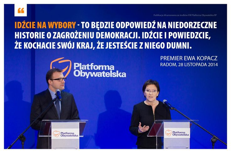 Pokażmy wszystkim, którzy podważają demokrację w Polsce, że są w błędzie. W niedzielę chodźmy na wybory.