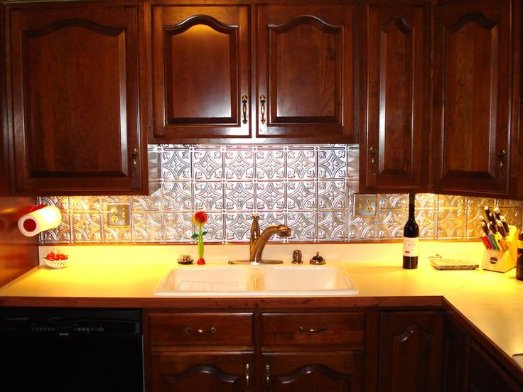 78+ images about Installing your New Tin Ceiling on Pinterest   Kitchen  backsplash, Decorative wall panels and Keep going