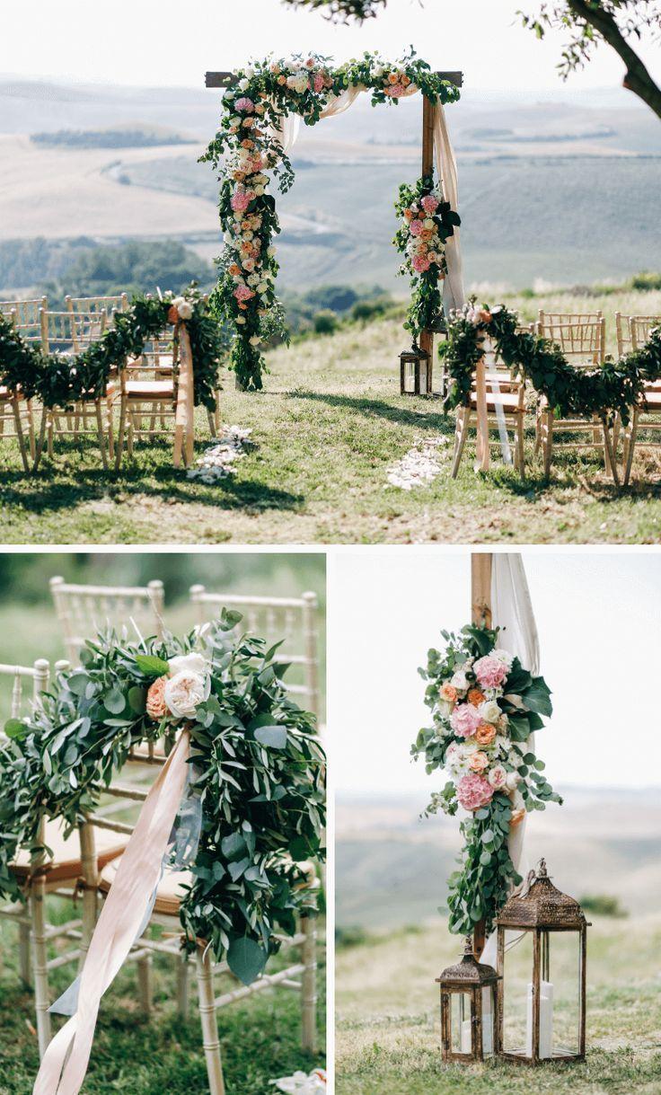 Trauung Im Freien 50 Atemberaubende Hochzeits Settings Trauung Im Freien Hochzeit Im Freien Bogen Hochzeit