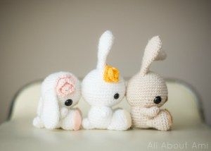 Spring Bunnies - free crochet pattern - Free Crochet Bunny Patterns - The Lavender Chair