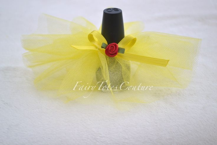 Wedding Shower Favor - Sweet 16 Party Favor - Nail Polish Tutu Favor - Beauty And The Beast Inspired Favor