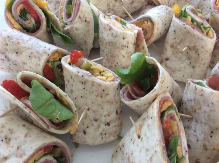 Beef and Rocket Wraps.