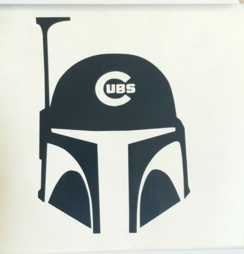 Chicago cubs boba fett decal star wars die cut stickervintageretro