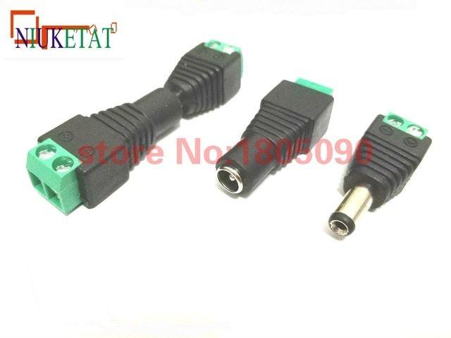 5 Pcs 2.1mm x 5.5mm Female DC Power Socket Jack Connector Adapter