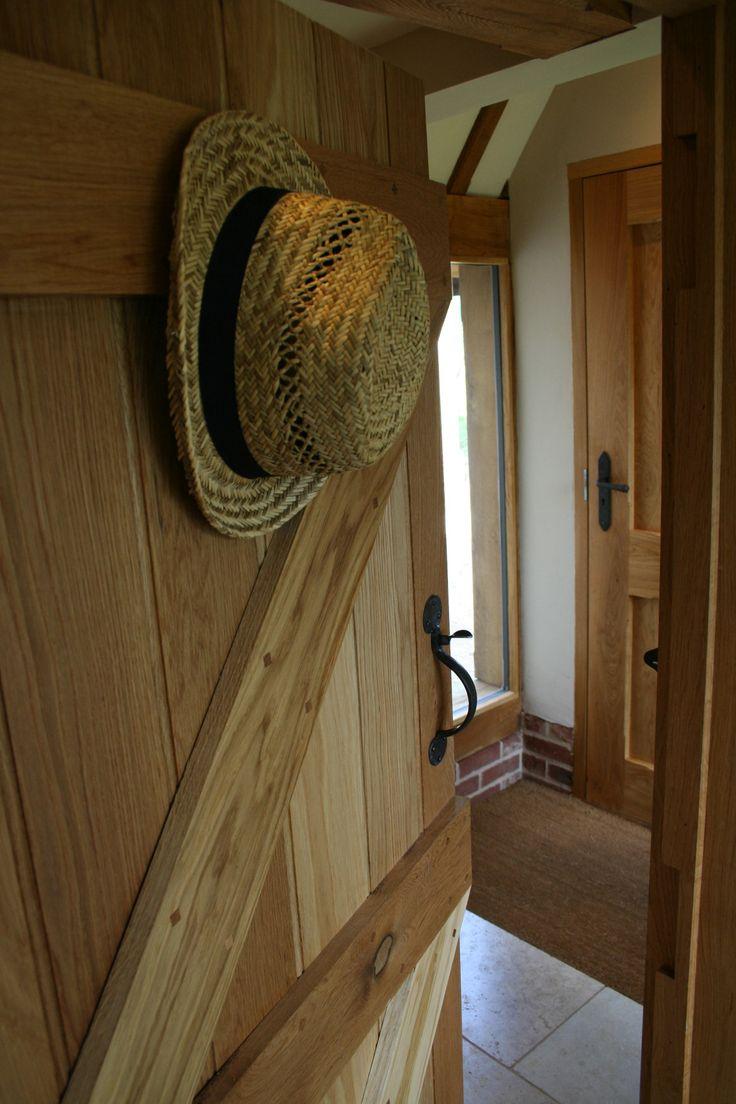 Ledge & Brace Solid Oak Door, Ledged Oak Door. www.grainandgroove.ie