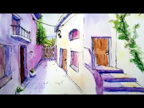 How to Paint Churches in Watercolour by UK artist Martin Goode. Watercolor Painting Tutorial - YouTube