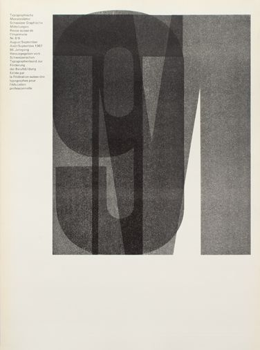 The Typographische Monatsblätter, cover from 1967 issue 8/9, Horst Hohl