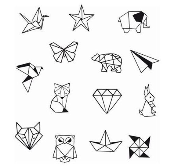 Geometrische Tier Diamond Shapes Knöchel Handgelenk temporäre Tätowierung – Knöchel Tattoo – Party Tattoo
