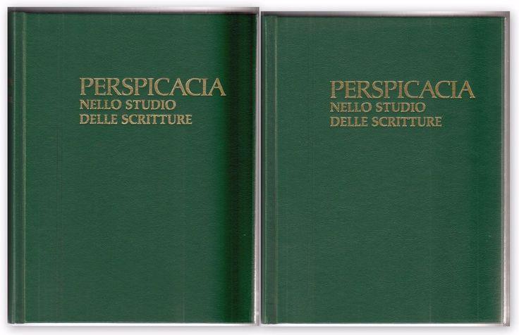 PERSPICACIA NELLO STUDIO DELLE SCRITTURE 1998 Testimoni di Geova-L4967
