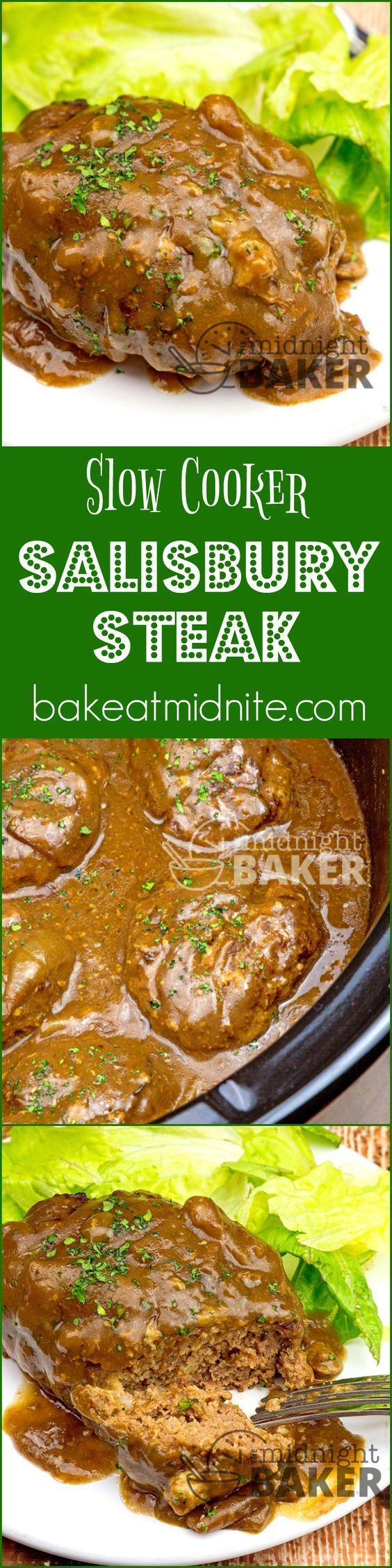 Slow Cooker Salisbury Steak ~ a great American comfort food that cooks low and slow in your crock pot...the family will love this and so will you!