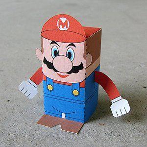 Fold your own Mario and Luigi paper toys - free PDF download