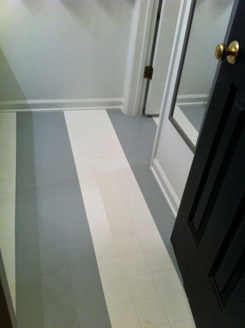 mollie's mom painted vinyl floors