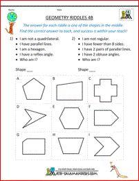 4-го класса загадки геометрии 4B