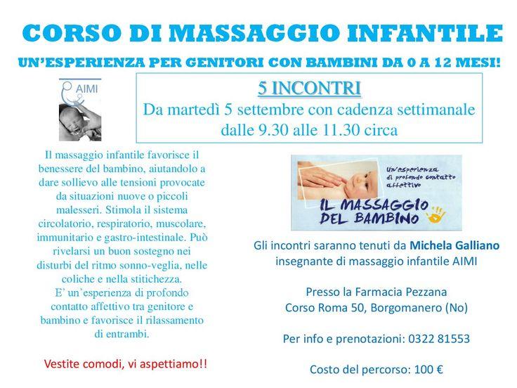 Corso di massaggio infantile | Farmacia Pezzana Borgomanero | Bellezza, test genetici e diagnostica.