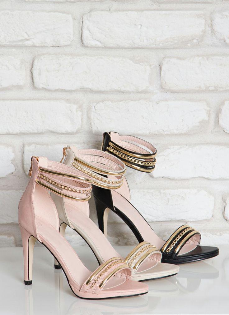 Sandałki Adore Pink Heeled Sandals / Sandały na obcasie / Sandały / Obuwie damskie - Modne buty, stylowe ubrania i obuwie damskie, sklep z b...