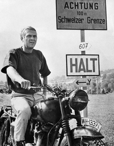 "Steve McQueen in ""The Great Escape"", 1963 ... Loved loved this movie!!!"