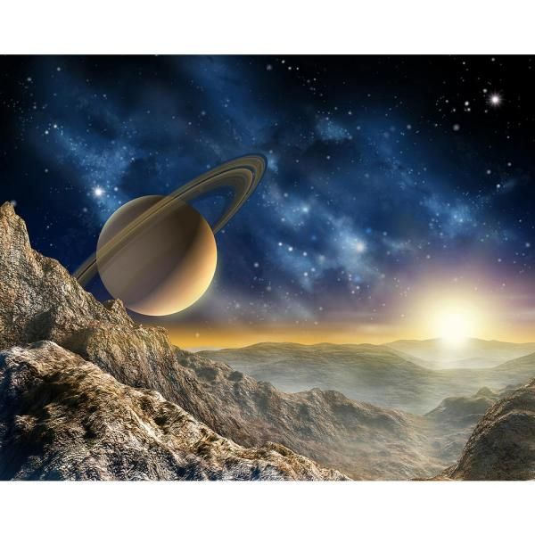 Brewster 118 In X 98 In Galaxy Wall Mural Wals0076 The Home Depot In 2020 Planets Wallpaper Wall Murals Mural